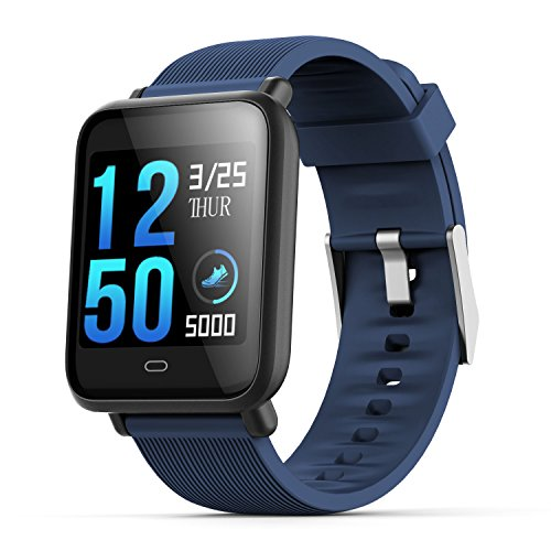 SODIAL Q9 smartwatch with heart rate monitor blood pressure