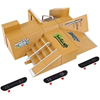 Unknown Lf(Tm) Fingerboard Set Ramp Playset Skatepark Assembly Site C (With Finger Skateboards) By