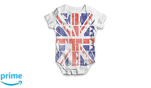 7cb1f1ed4ee2 Amazon.com  TWISTED ENVY Union Jack God Save The Queen Baby Unisex Novelty  All-Over Print Bodysuit Baby Grow Baby Romper  Clothing