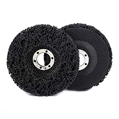 "2Pcs 4-1/2""x7/8"" Poly Strip Abrasive Disc Wheel Clean & Remove Paint?Rust and Oxidation for Angle Grinder 125x22mm"