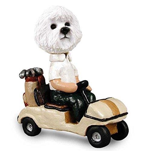 Bichon Frise Golf Cart Doogie Collectable Figurine