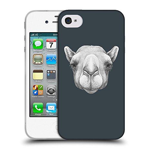 GoGoMobile Coque de Protection TPU Silicone Case pour // Q05360606 Portrait Camel Arsenic // Apple iPhone 4 4S 4G