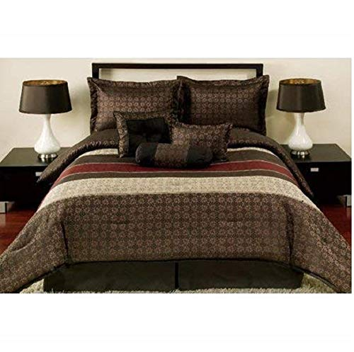 Mainstays Medici 7-Piece Bedding Comforter Set, King