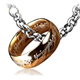 Tanboo Lord of The Rings Ring Titanium Steel Ring With Chain ,with Tanboo Card and Bow Box