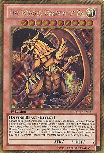 Amazon.com: YU-GI-OH! - The Winged Dragon of Ra (PGLD-EN031) - Premium Gold - 1st Edition - Gold Secret Rare: Toys & Games