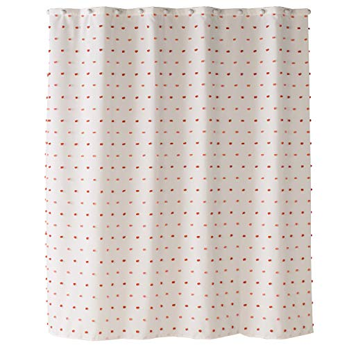SKl Home by Saturday Knight Ltd. Colorful Dot Fabric Shower Curtain, Pink