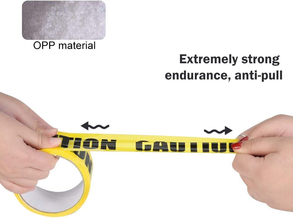Irich Bande davertissement jaune avec /«CAUTION/» /écrit en gras et noir 25 m x 4,8 cm Lisibilit/é maximale pour le lieu de travail zones de danger