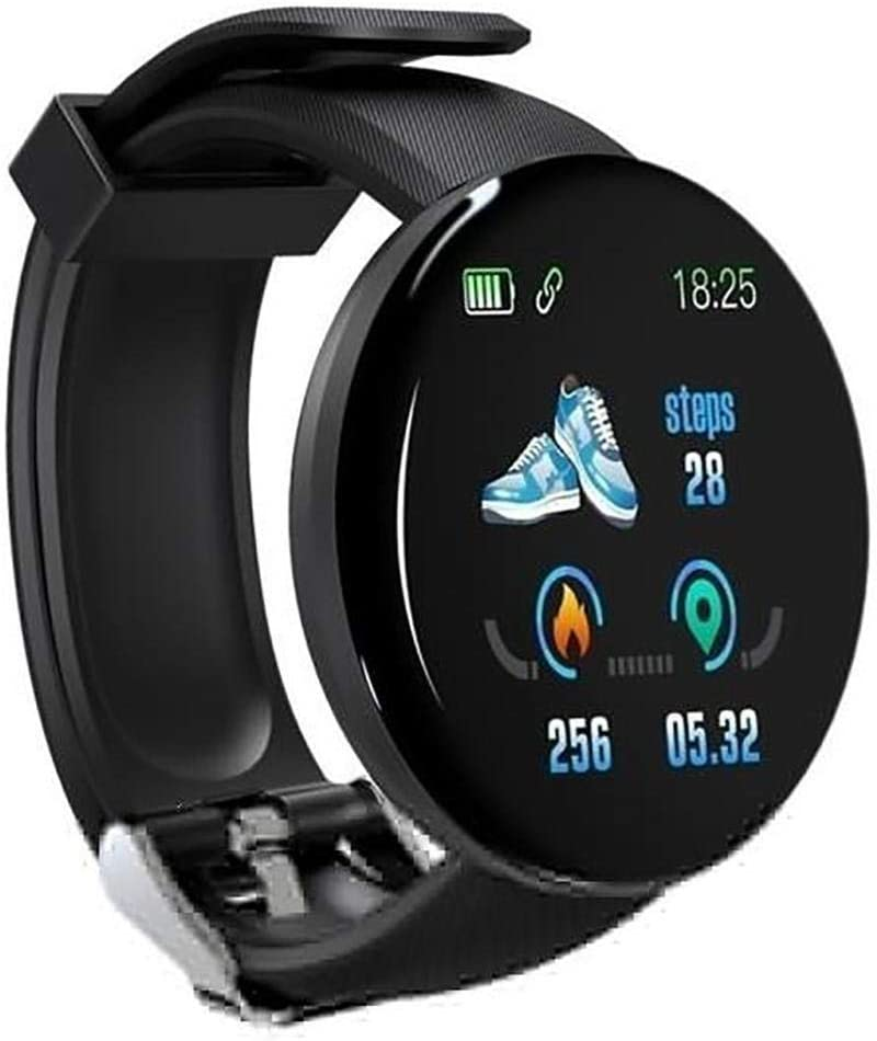 OIYINM77 Resistente al Agua IP65 Pulsera Inteligente Unisex Casual Multifuncional con Forma Redonda Bluetooth Smartwatches