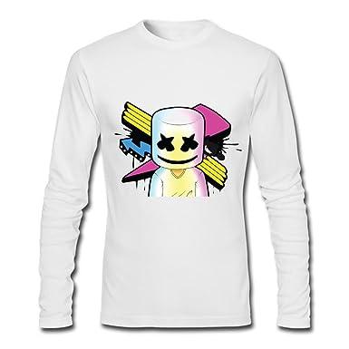 8fdf6e39124 Amazon.com  New Evo Men s Marshmello Face DJ Long Sleeve t Shirt ...