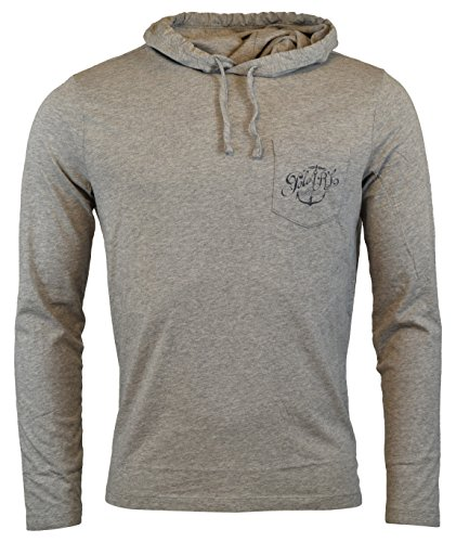 Lauren Long Sleeve Jersey - Polo Ralph Lauren Men's Long Sleeve Graphic Jersey Hoodie - M - Gray Heather