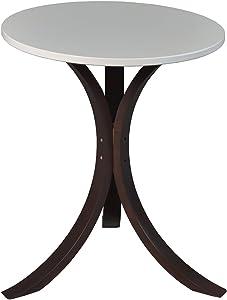 Niche Modern Mia Side Table, 18-Inch,Mocha Walnut/Beige