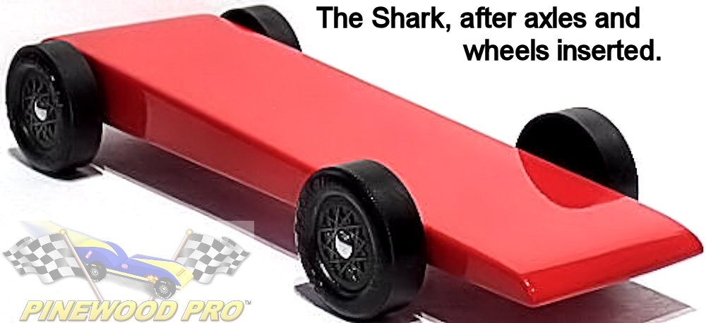 Pinewood Derby Complete Bsa Car Kit The Shark Toys