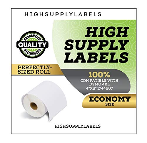 1744907 Dymo 4XL Labels 4x6-100 Qty Dymo 4x6 Labels per Roll Dymo 1744907 Economy Pack by High Supply