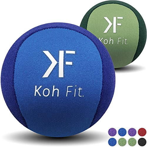 Koh Fit Stress Ball Multipacks - Stress Reliever Squeeze Balls - Bonus 18-Page Hand Exercise Therapy ()