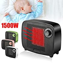 2-in-1 1500W Heater/Cooler Fan Portable Electric Space Heater Fan Table Handy Winter Air Warmer Home Office