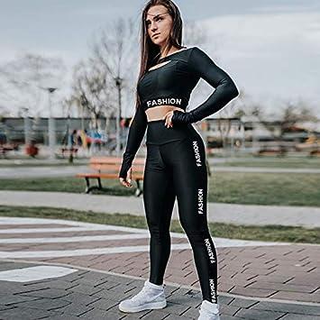 TNWMHD Ropa Deportiva Mujer Fitness Conjunto de Yoga sin ...