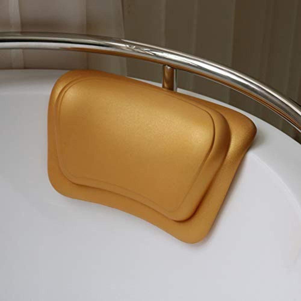 QIAO PU Vasca da Bagno Cuscino Vasca da Bagno Cuscino Morbido per la Testa Cuscino da Bagno Barilotto Cuscino per Ventosa Ventosa Fissa Cuscino per Vasca Oro-Oro