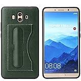 Huawei Mate 10 Case Ultra Slim Soft PU Leather Wallet Credit Card Slot Holder Kickstand TPU Bumper (Huawei Mate 10, Green)