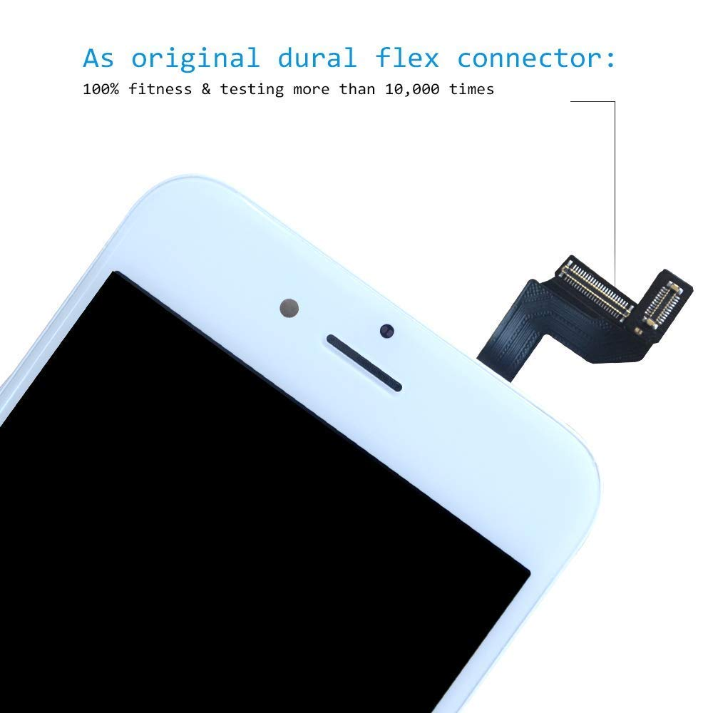 GAVATE39 Black Compatible for iPhone 6S Plus Screen
