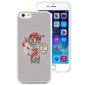NEW Unique Custom Designed iPhone 6 4.7 Inch TPU Phone Case With Nerd Not Drunk Zombie_White Phone Case