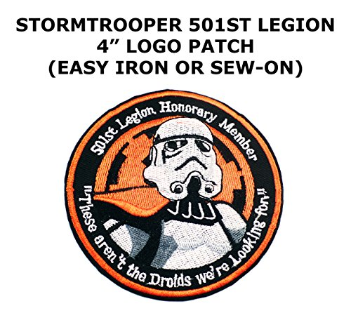 501st Legion Honorary Member Stormtrooper Sci-Fi Star Wars Theme Cartoon Movie Films Superhero Cosplay DIY Decorative Embroidered Iron or Sew-on Patch By US Family Brand