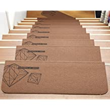 ONEONEY Stair Treads Collection Set of 13 Indoor Skid Slip Resistant Stair Runner Carpet Stair Treads ( 21.6 x 8.1 inches)