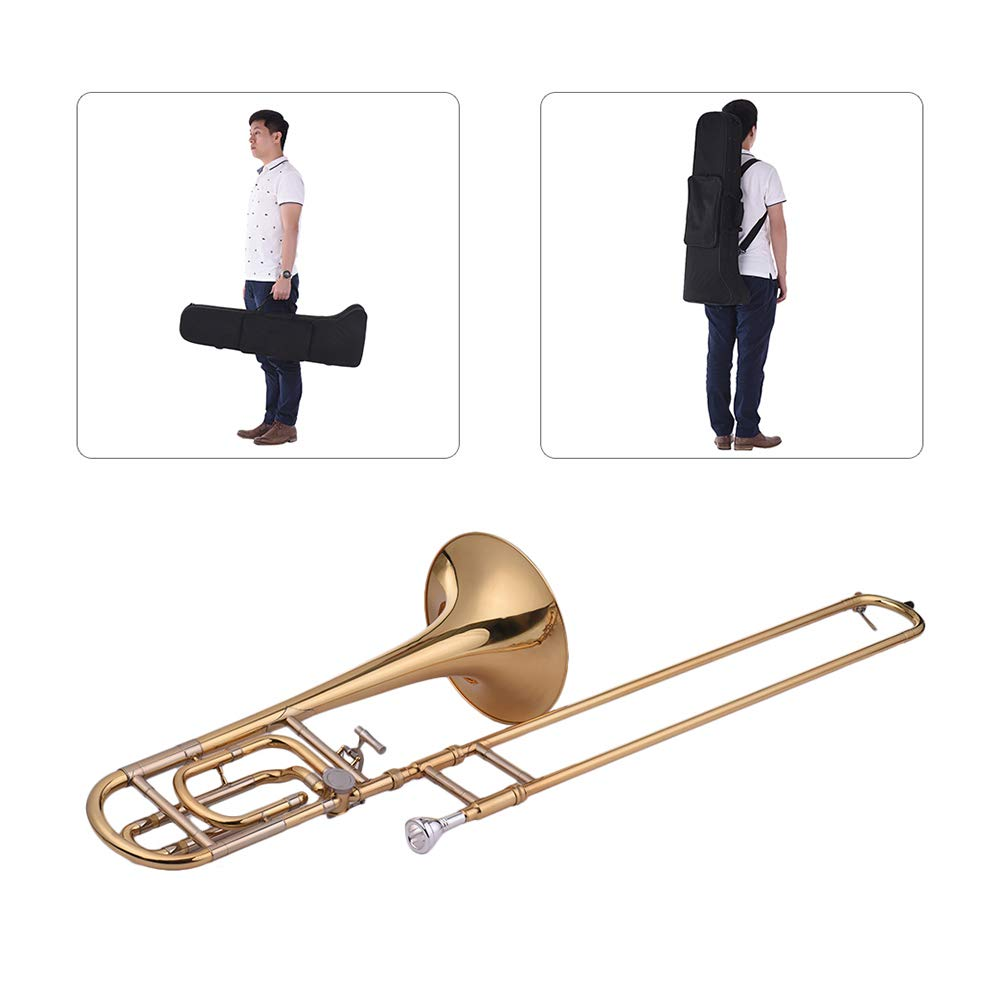 Festnight Trombone, Intermediate Bb Flat Tenor Slide Trombone with F Attachment Including Mouthpiece Carry Case by Festnight (Image #5)