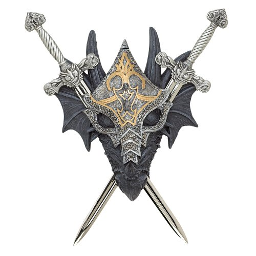 Living Room Wall Art, Stainless Steel Armored Dragon Home Decor Wall Art Family (Sold by Case, Pack of 6)