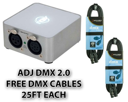 American DJ Supply MY DMX 2.0 Special Effects Lighting and Equipment + FREE (2) DMX cables 25ft -