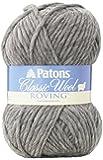 Patons Classic Wool Roving Yarn, Grey