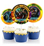 12 Guardians of the Galaxy Birthday Inspired Party Picks, Cupcake Picks, Cupcake Toppers #1
