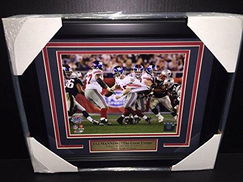 ELI MANNING THE GREAT ESCAPE SUPER BOWL XLII MVP 8X10 FRAMED NEW YORK - Framed Eli Manning