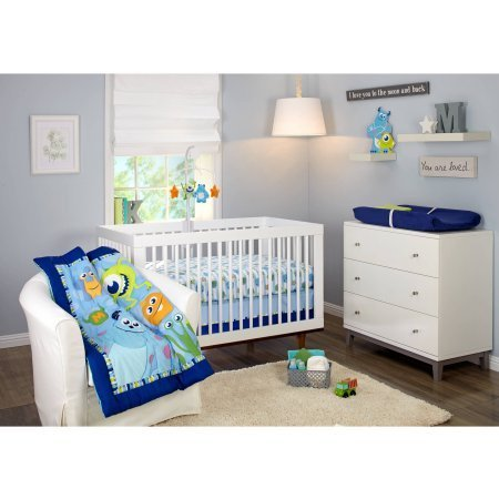 Disney Monsters On the Go 4-Piece Crib Bedding Set [並行輸入品]   B077ZP8BBD