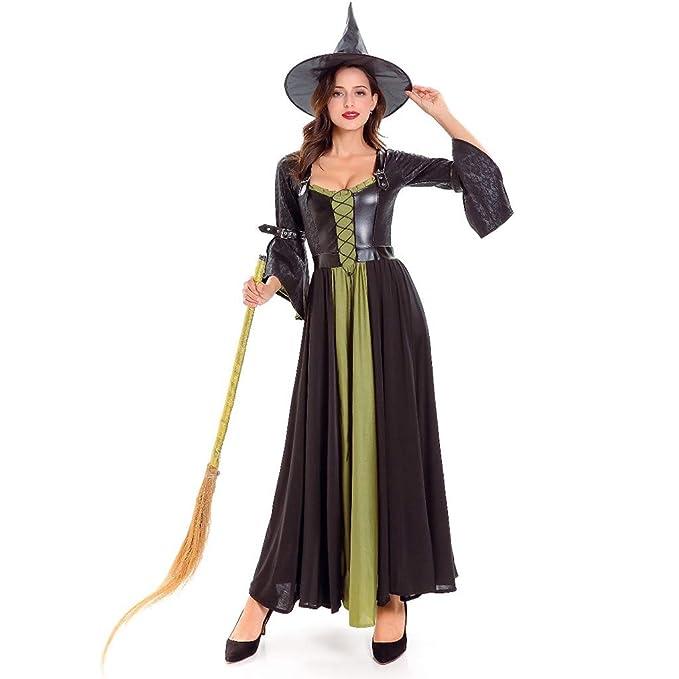 Disfraz Halloween Mujer Bruja Disfraz para Mujer Trajes de Baile ...