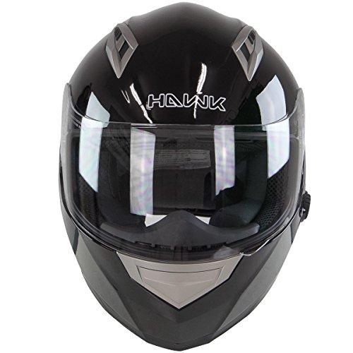 Hawk H-510 Glossy Black Bluetooth Full Face Helmet - Small by Hawk Helmets (Image #4)
