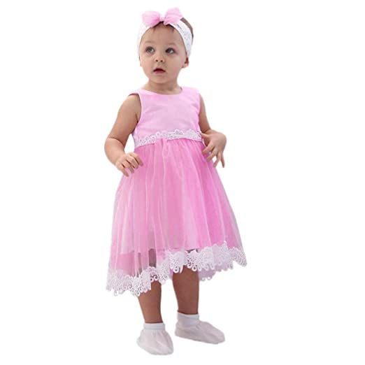 db0ac7c521953 Amazon.com: Minisoya Kids Toddler Baby Girls Casual Cute Dress Lace Dress  Sweet Princess Prom Pageant Party Tulle Dress Outfits: Clothing