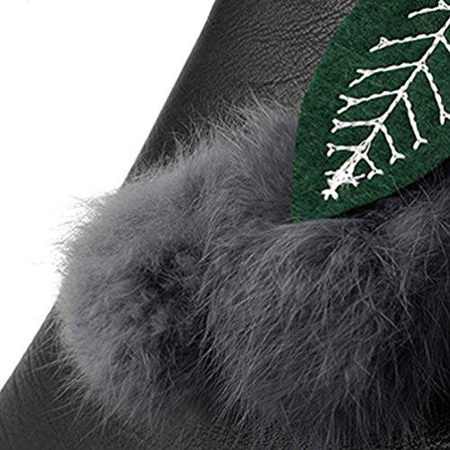 Baymate Mujeres PU Piel Bolsa Crossbody Bolsa Moda Bolso de Hombro con Pompones Colgante Negro