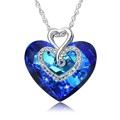 Crystal Heart Pendant Necklace - 4