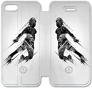 5 5s Cover,[Pu Leather Cover] Michael Jordan Theme New iPhone 5 5s Case Cover KA6253