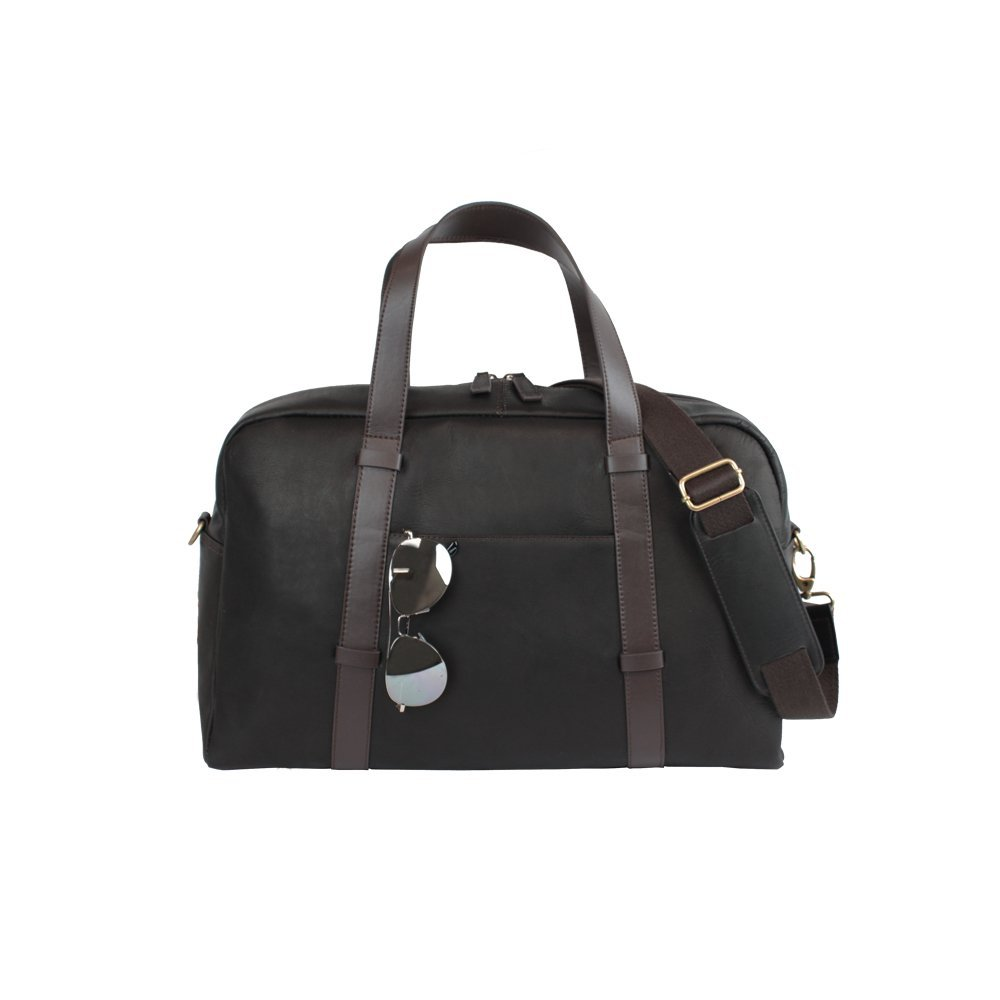Bellino Oxford Leather Duffel Classic Leather Business Carry on Bag