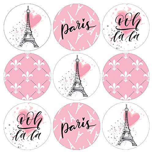 Paris Party Favor Labels | 198 Stickers]()