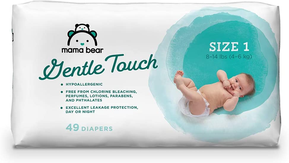 Brand Size 7 Mama Bear Gentle Touch Diapers 20 Count Hypoallergenic