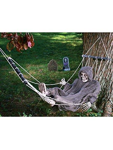 Life Size Halloween Figures (Lazy Bones Reaper Hammock Life Size Prop)