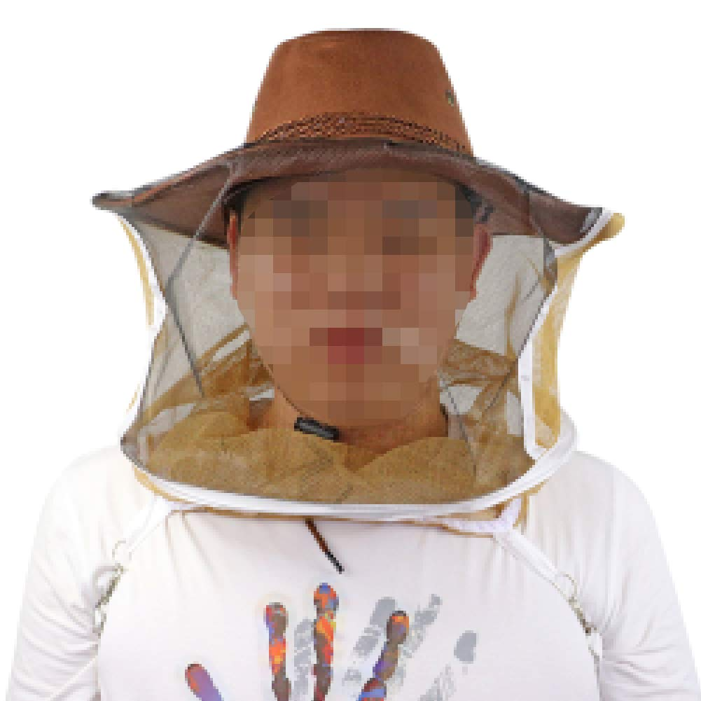 Farm /& Ranch Professional Beekeeping Hat Beekeeper Cowboy Hat Anti Mosquito Bee Insect Veil Net Hat Full Face Neck Wrap Protector One Size