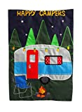 Evergreen Happy Campers Applique Garden Flag, 12.5 x 18 inches For Sale