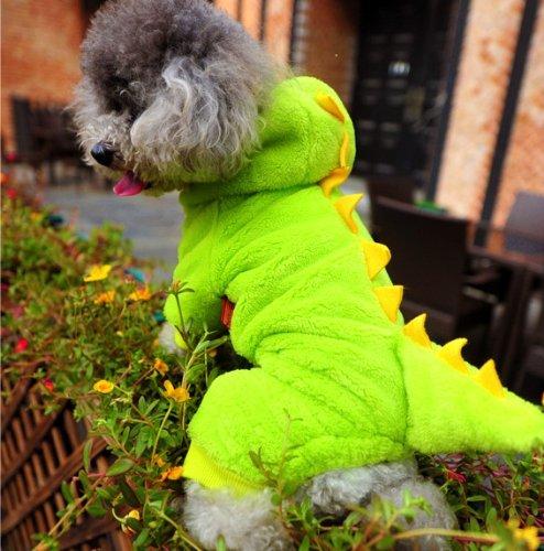 Halloween Dog Costume Dinosaur Dog Costume (Green, (Xxs Dog Halloween Costumes)
