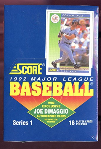 1992 Score Baseball Card Wax Pack Box Set Series 1 One Joe DiMaggio Autograph (1992 Card Donruss)