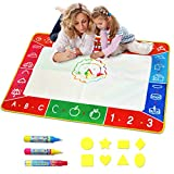 Meland Large Water Doodle Mat Colorful 39.4 X 27.5 Inch Magic Water Drawing Mat Pad with 3 Water...