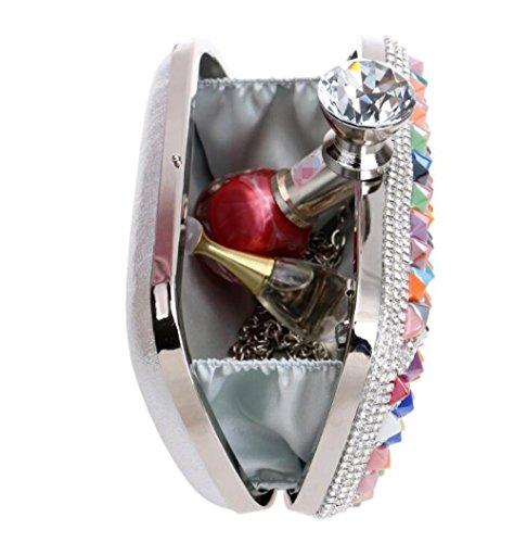 Diamante Main Prom Pour Clubs Sac Sac Pochette Multicolore Antique Dames Cadeau Nuptiale Bandoulière À Mariage De Enveloppe Paillettes À Soirée Main Sac Femmes Party À tzCqZRWW