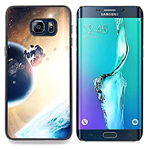- Asteroids Planet Alien World Universe Sun - Caja del tel????fono delgado Guardia Armor- For Samsung Galaxy S6 Edge Plus Devil Case